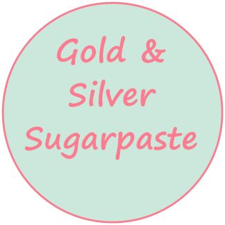 Gold and Silver Sugarpaste