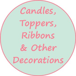 Candles; Toppers; Ribbons and Other Decorations